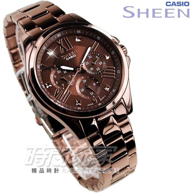 женские японские наручные часы Casio Sheen She 3806br 5a купить в