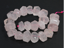 Бусина Кварц розовый, Бразилия, крупная грань 17*13 мм (1 шт) №20943