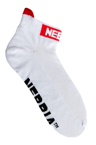 "Носки NEBBIA ""SMASH IT"" ankle length socks 102 Белые"