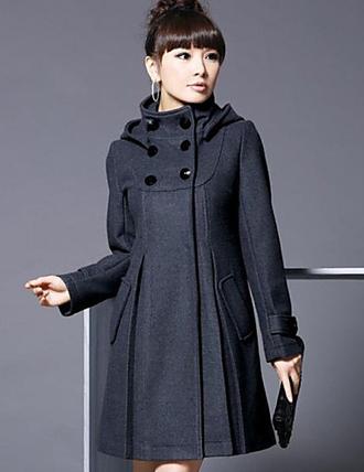 Женский Однотонный Пальто