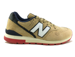 New Balance 996 Beige Suede White Black (41-45) Арт. 053МF