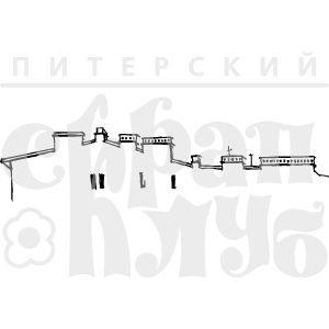 Штамп крыша, питерские мотивы, брандмауер, городская симфония