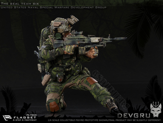 Коллекционная ФИГУРКА 1/6 scale Collectible Figure US seals  team DEVGRU jungle dagger 73020 FLAGSET
