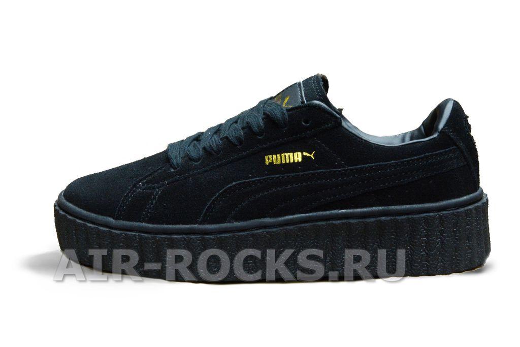 Купить кроссовки Puma Creeper by Rihanna Black со скидкой    Интернет-магазин черные Пума Крипер в Москве b56c320bbc2