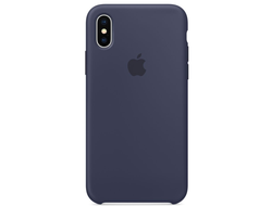 Чехол-накладка Apple Silicone Case iPhone Midnight Blue