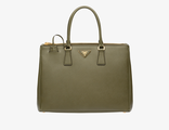 Prada Galleria Bag Military Green 35