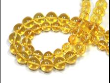 Бусина Янтарь натуральный, цвет Лимонный, Калининград, шар 8 мм №18241