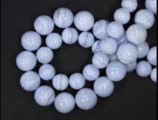 Бусина Агат голубой, шар 16 мм (1 шт) №18899