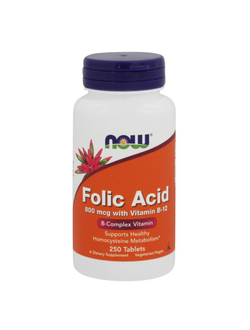 Фолиевая кислота Folic Acid Now 250 Tab
