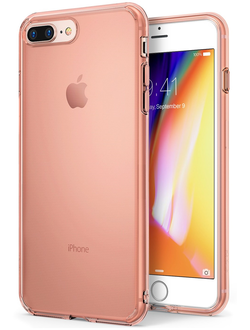Чехол на Apple iPhone 7 Plus и 8 Plus, Ringke серия Air, цвет розовое золото (Rose Gold)
