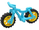 Bicycle Heavy Mountain Bike with Yellow Wheels, Medium Azure (36934c05)