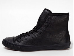 converse all star hi winter leather black 01
