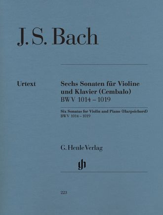 J.S. Bach Six Sonatas for Violin and Piano (Harpsichord) BWV 1014-1019