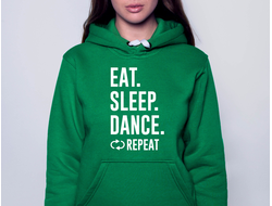Толстовка Eat. Sleep. Dance. Repeat