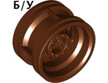 ! Б/У - Wheel 30.4mm D. x 20mm with No Pin Holes and Reinforced Rim, Reddish Brown (56145 / 4618633) - Б/У