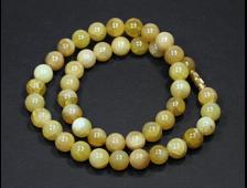 Бусы опал жёлтый, Перу, шар 10 мм (46 см, вес 51 г) №2533