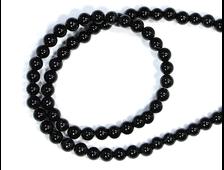 Бусины Агат черный, шар 5 мм, цена за 1 нить около 38 см, 75 шт. (вес 13 г) №20272