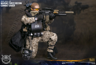 Боевой пловец MARINE FORCE RECON COMBAT DIVER WOODLAND MARPAT VER (78056) DAMTOYS
