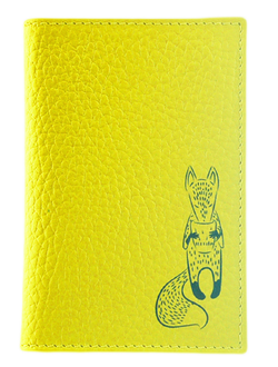 Кредитница QOPER Credit card holder fox yellow