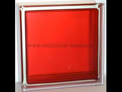 Стеклоблок Vitrablok окрашенный внутри гладкий рубиновый