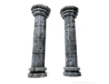 Stone columns (PAINTED)