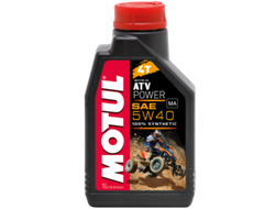 Масло для квадроцикла Motul ATV power 5w40 4T (Синтетика) — 1Л (105897)