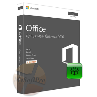 Microsoft Office 2016 Home and Business for MAC Rus No Skype Only Medialess W6F-00820/W6F-00613