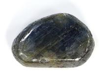 Корунд синий (сапфир), галтовка, Индия (18*12*5 мм, 3,3 г) №21310