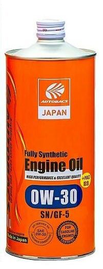Масло моторное AUTOBACS ENGINE OIL FS 0W-30 1л A01508397