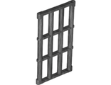 Bar 1 x 4 x 6 Grille with End Protrusions, Pearl Dark Gray (92589 / 6037621 / 6143247)