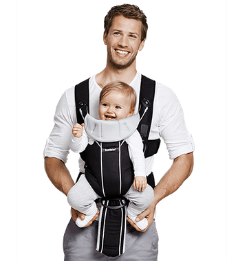 Рюкзак-кенгуру BabyBjorn Carrier Miracle Black-Purple (Cotton Mix)
