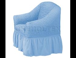 Чехол Стандарт на кресло, цвет Голубой