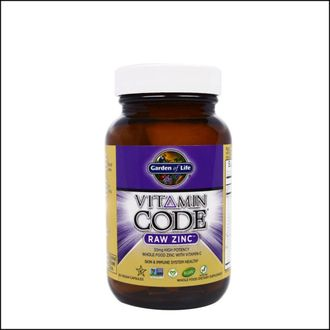 Цинк Vitamine Code Raw Zink Garden of Life 60 Caps