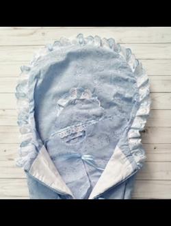 Конверт для выписки (Артикул 27-1-6Ш) цвет голубой
