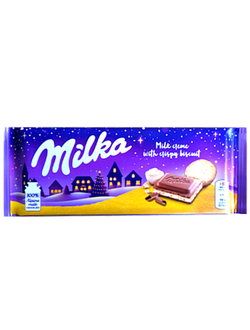 Milka New Year Crema with crispy biscuit с капельками печенья