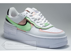 Кроссовки Nike AF Shadow 1 Low White/Pink/Green женские арт. N883