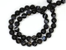 Бусина Агат черный, шар 6 мм (1 шт) №14425
