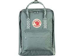 Рюкзак Fjallraven Kanken Frost Green-Chess Pattern (Mini)