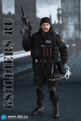 Британский спецназ САС - коллекционная фигурка 1/6 British SAS B Squadron - Black Ops Team - MA1005 - DID