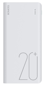 Аккумулятор Romoss Sense 6 Plus, 20000 mAh White