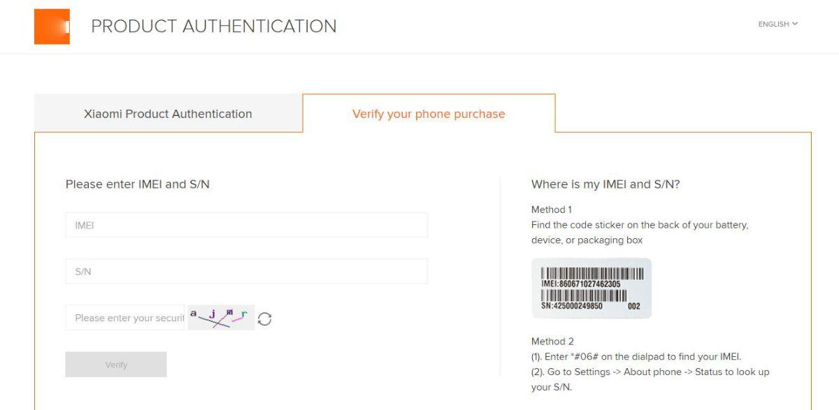 Xiaomi проверка по серийному номеру