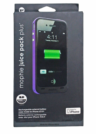 Чехол - аккумулятор iphone 4-4s Mophie Juice Pack Plus 2000 mAh