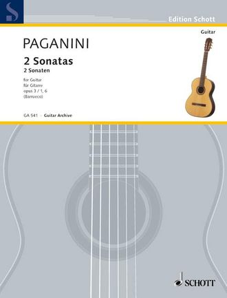Paganini, N: 2 Sonatas op. 3 for Guitar