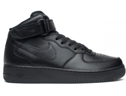 Nike Air Force 1 Mid Черные (36-45) Арт. 003MF