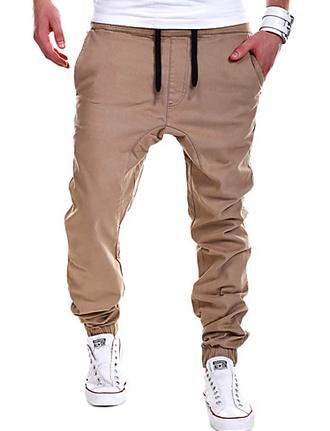 Мужской Однотонный Тренировочные брюки На каждый день