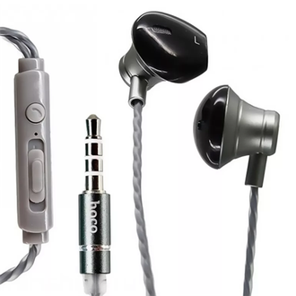 Наушники Hoco M18 Metal Earphone, silver