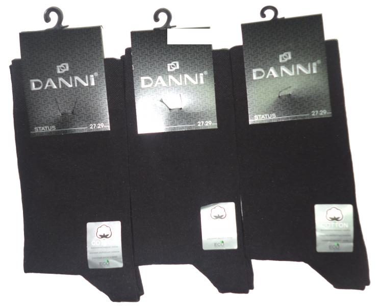 """""""DANNI"""", Армения Носки мужские хлопок с лайкрой черные Арт. Status, 10 пар (1 упаковка)"""