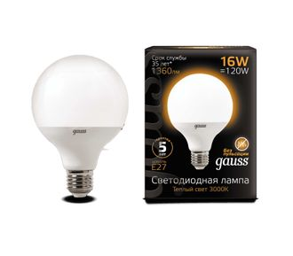 Gauss LED G95 16w 840 E27