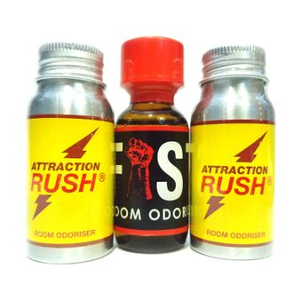 попперсы Attraction Rush Metall 30 ml и Fist 25 ml
