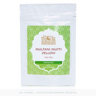 "Маска для лица Мултани Мутти Желтая (Multani Mutti Yellow Face Pack) 50г ""Indibird"""